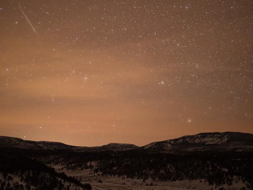 Hello World! Quadrantids Wiggly Meteor.