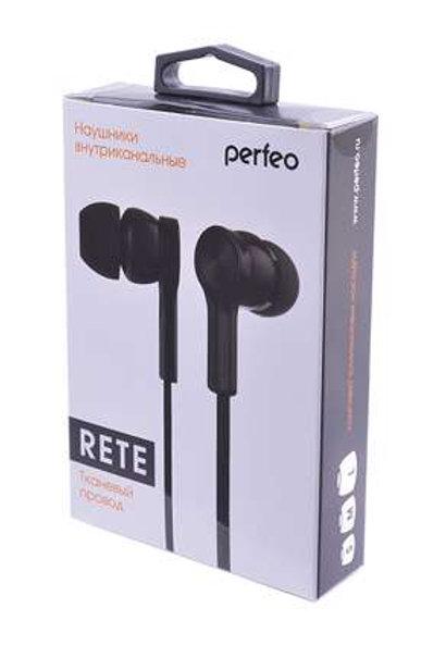PERFEO RETE PF_A4623 тканевый провод черные