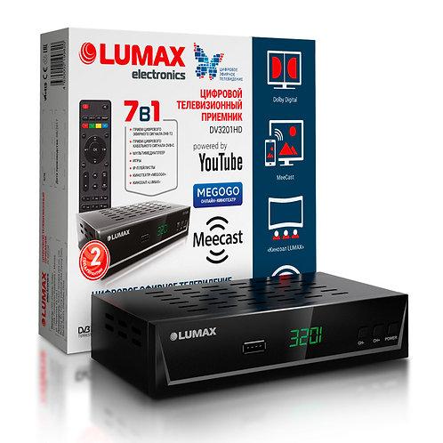 Ресивер Lumax DV3201HD, дисплей, DVB-T2,