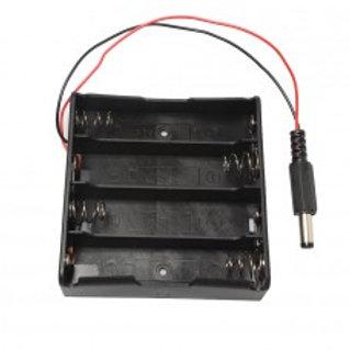 Батарейный отсек 4х18650 co штекером DC 5,5x2,1