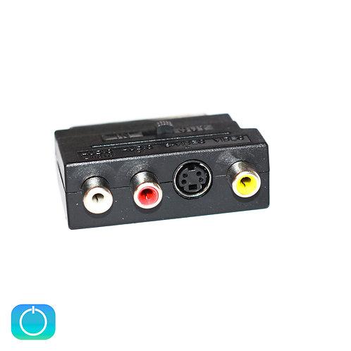 Переходник SCART (M) - 3 RCA (F) / SVHS (F)