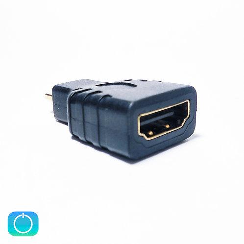 Переходник micro HDMI (M) - HDMI (F)