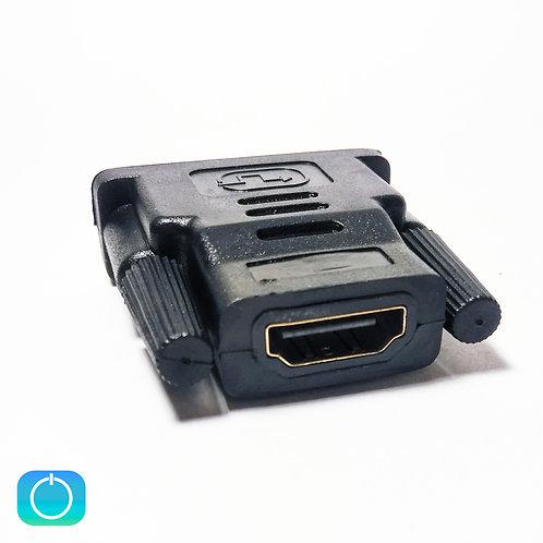 Переходник HDMI (F) - DVI (M)