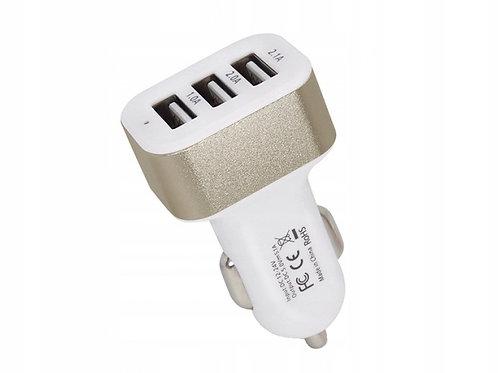 Разветвитель прикуривателя на 3 гнезда USB 5V