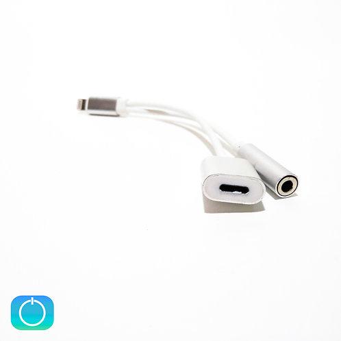 Переходник для наушников iPhone шт. на гн. 3.5 и гн. iPhone