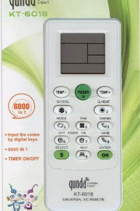 Универсальный пульт  KT-6018E для кондиционера 6000 в1 QUNDA