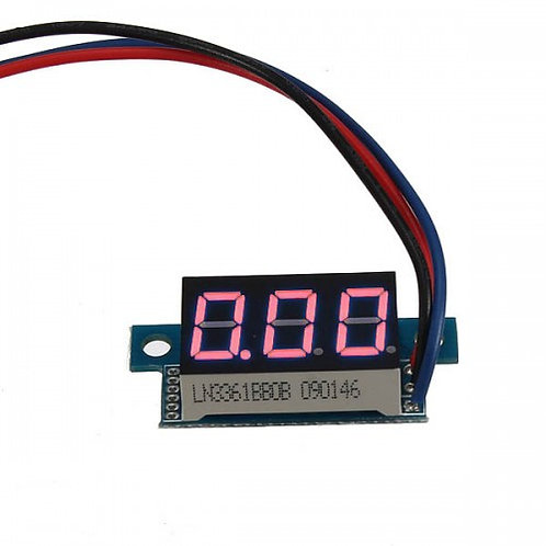 """Модуль вольтметра 0,36"""" 0-200В (Красный)"""