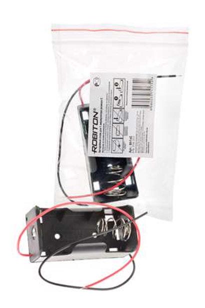 футляр ROBITON Bh1xC с двумя проводами на 1 аккум C