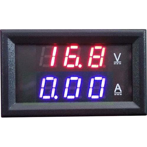 Модуль амперметр (синий) + вольтметр 0-100В 1А