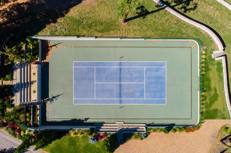 Tennis Courts with Stadium Seating