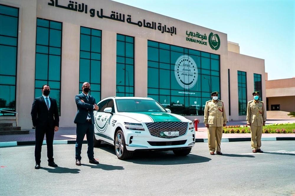 Dubai Police Adds the Genesis GV80 to Its Fleet of Luxury Patrols