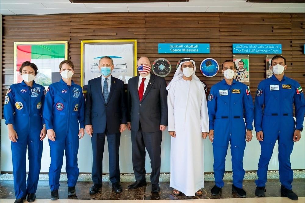 Delegates from the US Embassy Visit MBRSC