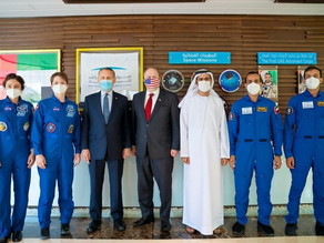 Delegates from the US Embassy Visit MBRSC