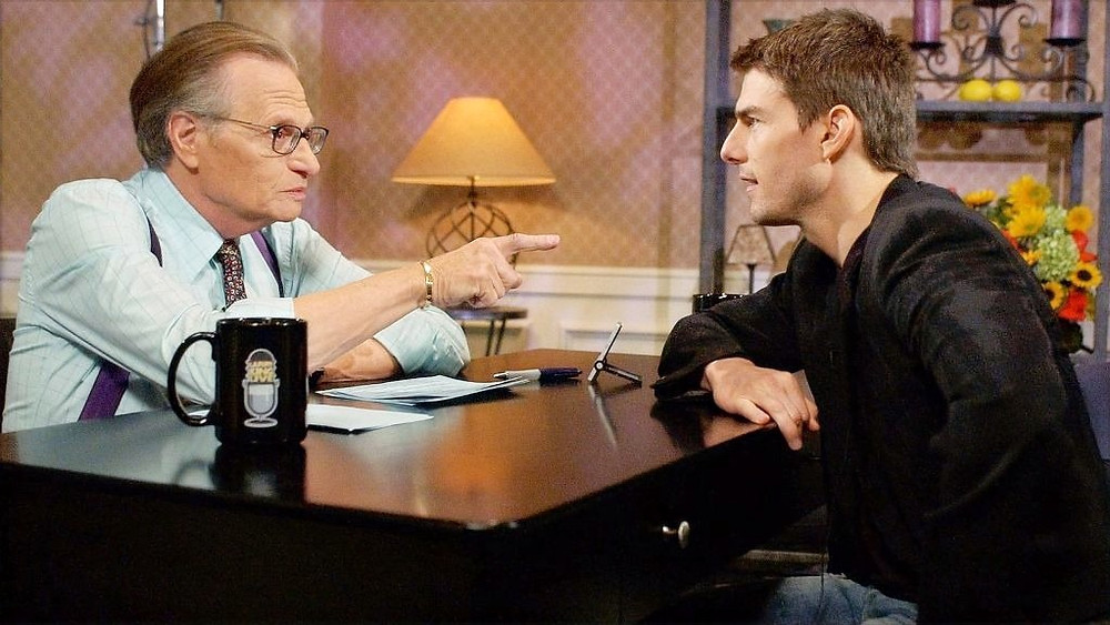 Larry King With Actor Tom Cruise