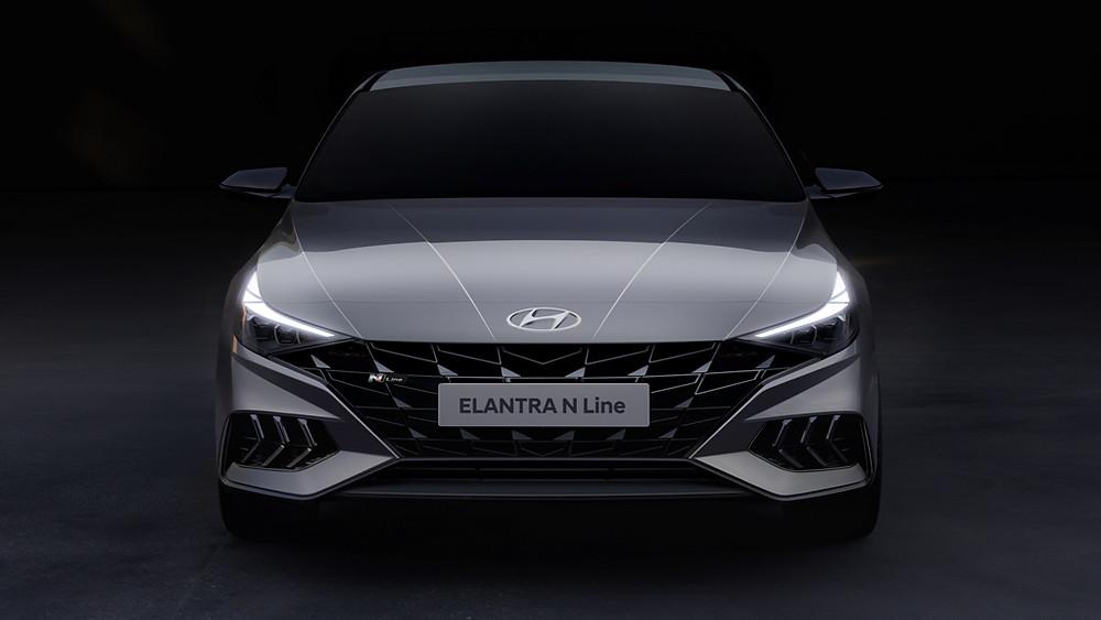 Hyundai Motor unveils rendering of new Elantra N Line sport sedan