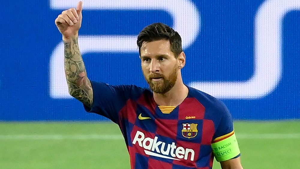 The football megastar Lionel Messi