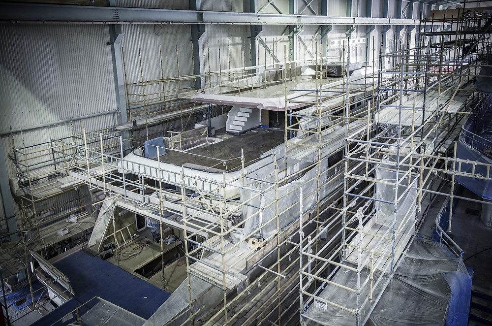 Update on the production process of Majesty 120 Superyacht