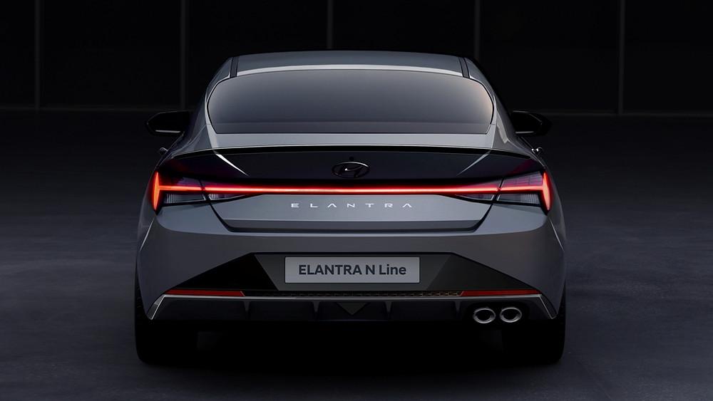 Elantra N Line sport sedan -Rear Shot
