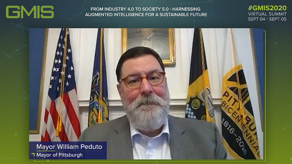William Peduto, Mayor of Pittsburgh speaks at the Global Manufacturing and Industrialisation Summit