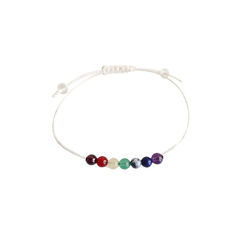 Balancing the 7 Chakras + Hemp + Choice of Anklet or Bracelet
