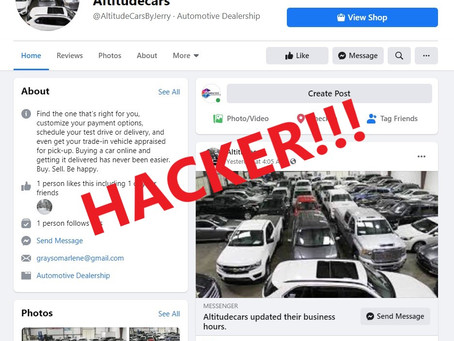 Advertising on Facebook, Small business hacked!