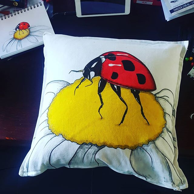 Pillow with Drawings by Kse design