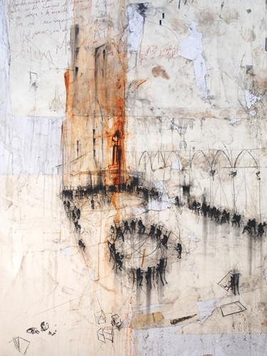 140 x 200 cm / mixta sobre lino / 2012 Colección privada, ES