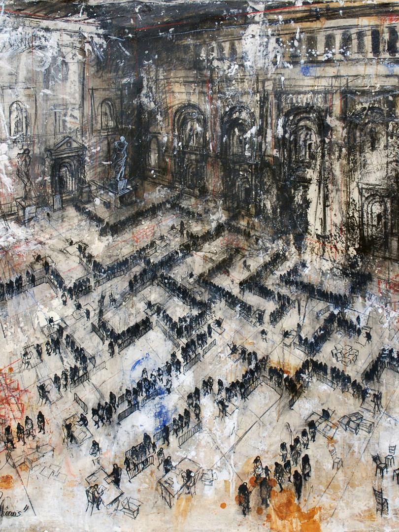 130 x 162 cm / mixta sobre lino / 2015 Colección privada