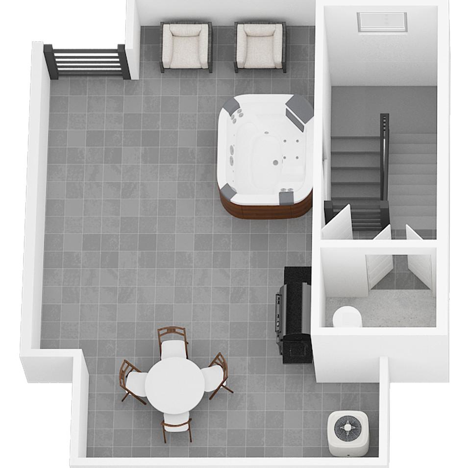 2910 Unit 2 3 4 - Roof Level