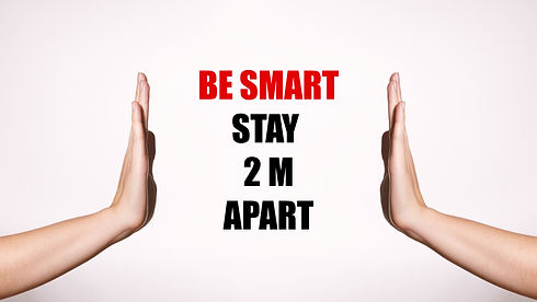 Be Smart, Stay 2m Apart. Distancing and