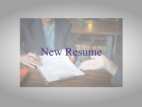 Resume Development (Start from Scratch)