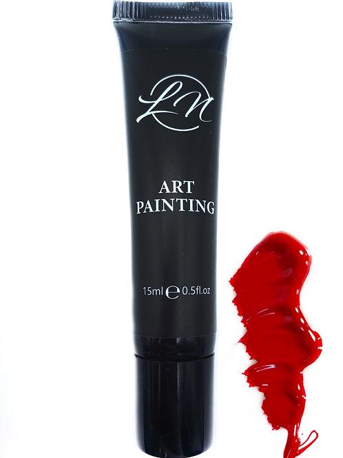 Gel Art Painting Red