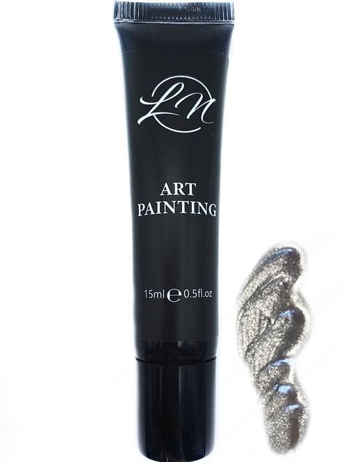 Gel Art Painting Silver