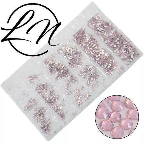 strass cristal opale pink