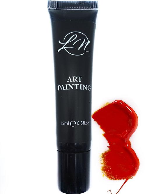 Gel Art Painting Dark Orange