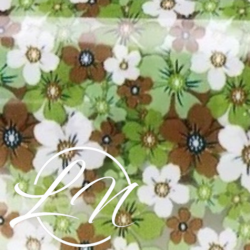 Rouleau Green Flowers