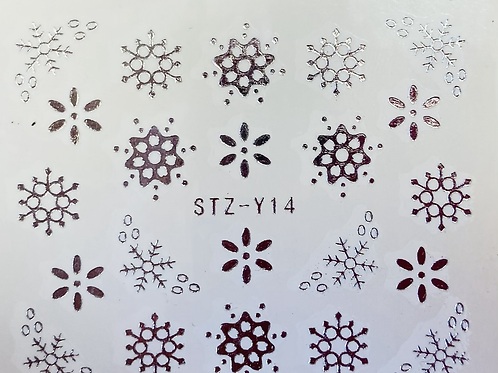 Water Decall STZ-Y14 Silver