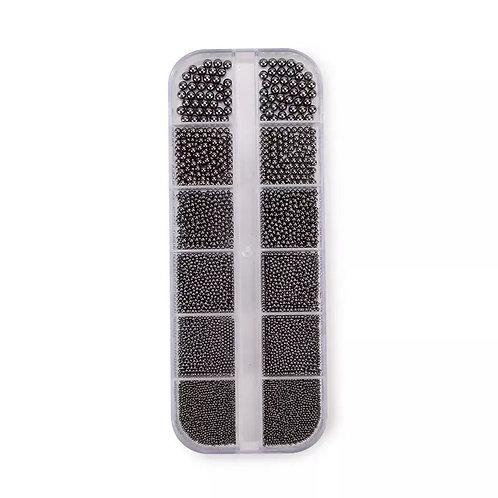 Boîtes Micro Billes Acier Black Silver