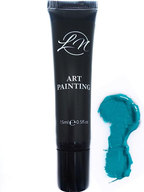 Gel Art Painting Blue Lagoon