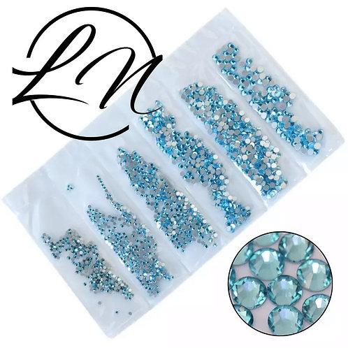 Sachet de strass cristal aquamarine