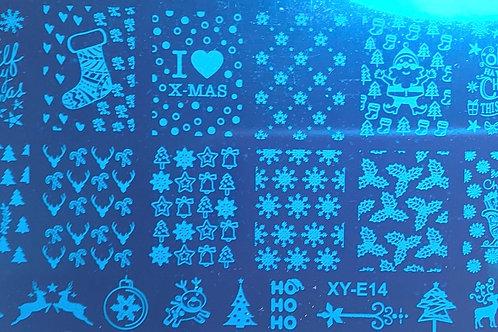 Plaque Noel 14