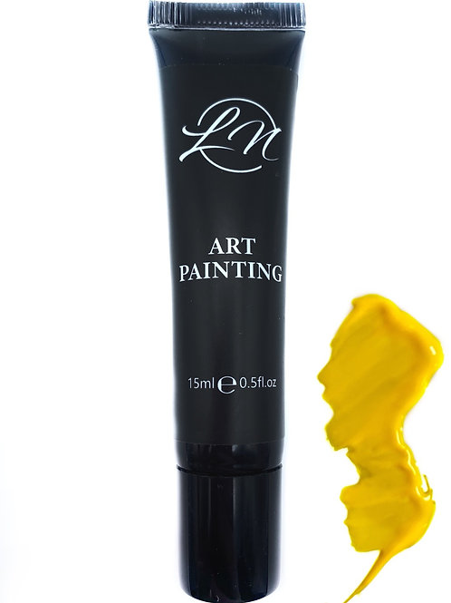 Gel Art Painting Yellow