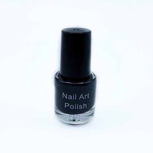 Vernis stamping noir BOUTEILLE ABIMEE
