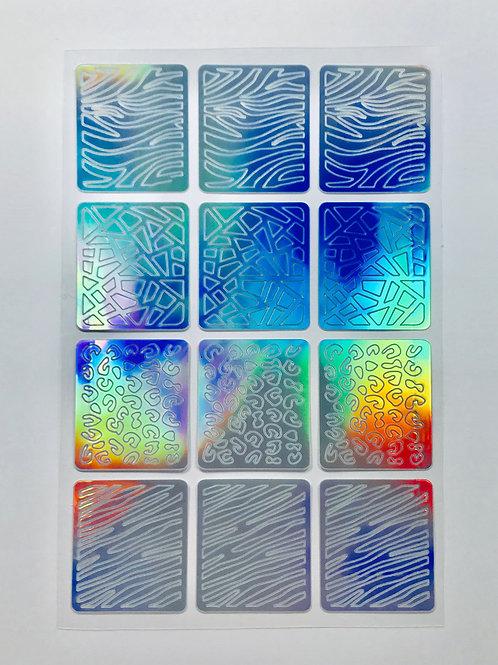 Pochoirs abstraits x12