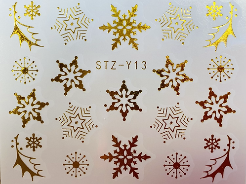 Water Decall STZ-Y13 Gold