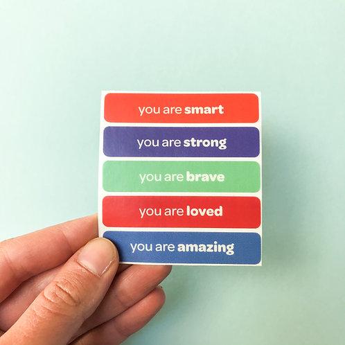 'you are amazing' vinyl stickers