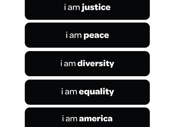 i am justice | affirmation stickers