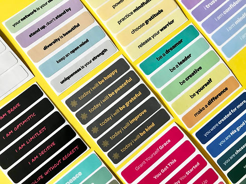 create your own custom affirmation stickers with tangibles