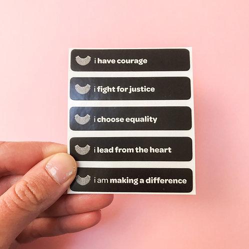 'i have courage' vinyl stickers
