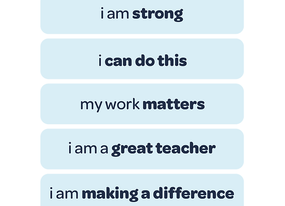 my work matters | affirmation stickers for teachers